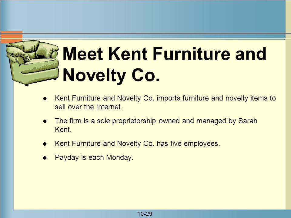 Meet Kent Furniture and Novelty Co.