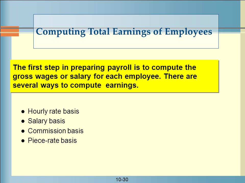 Computing Total Earnings of Employees