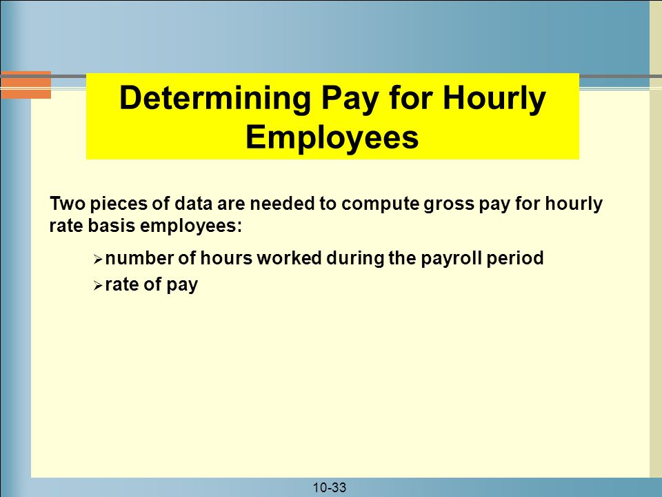 Determining Pay for Hourly Employees