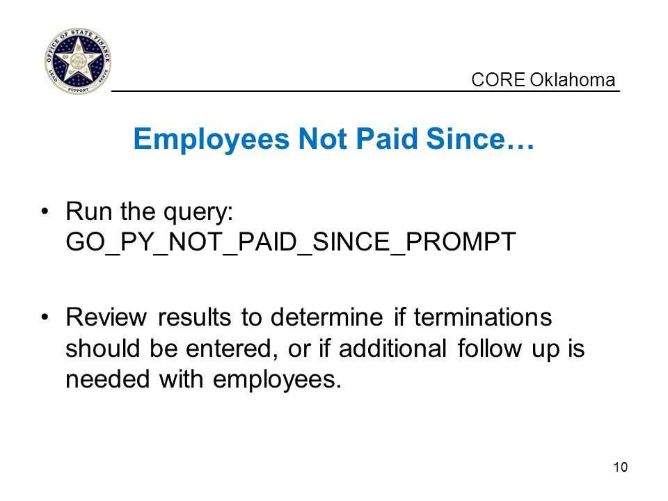 Employees Not Paid Since…