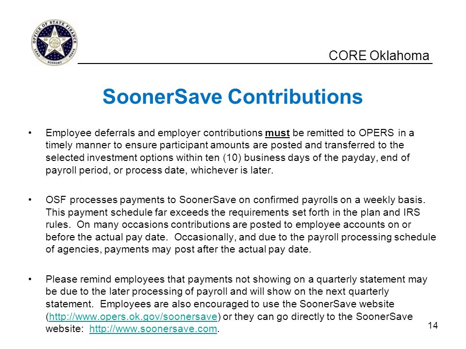 SoonerSave Contributions