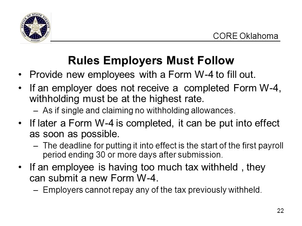 Rules Employers Must Follow