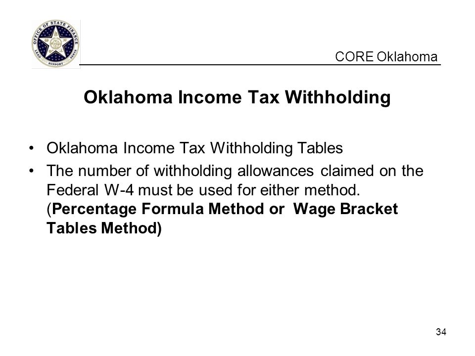 Oklahoma Income Tax Withholding