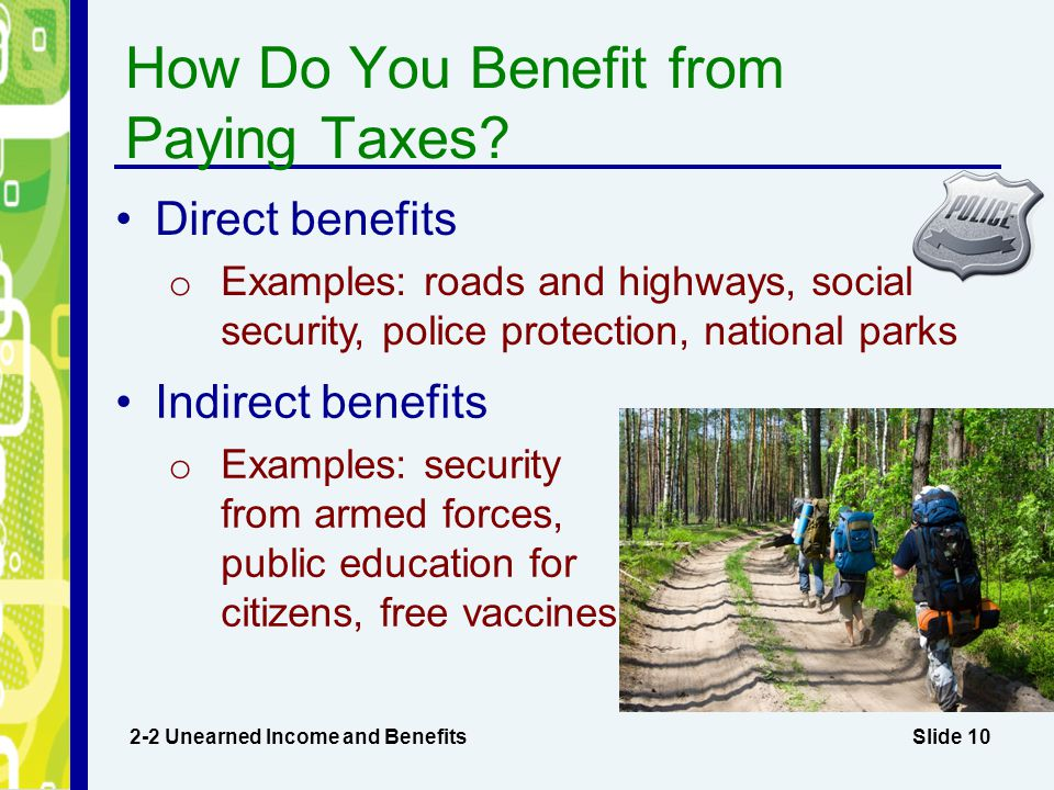 How Do You Benefit from Paying Taxes