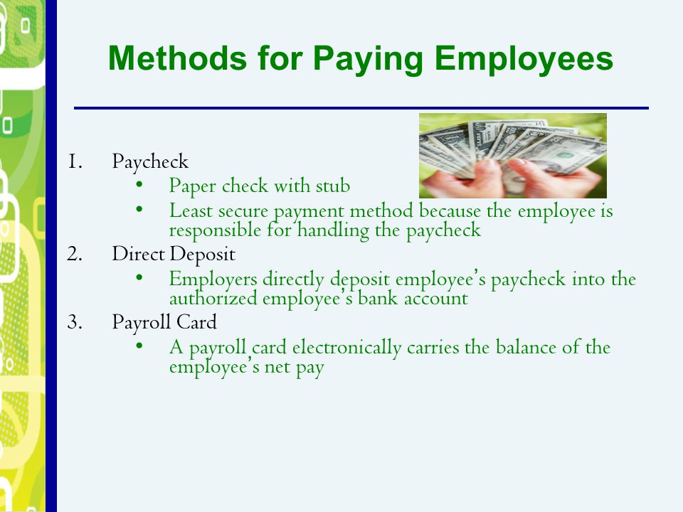 Methods for Paying Employees