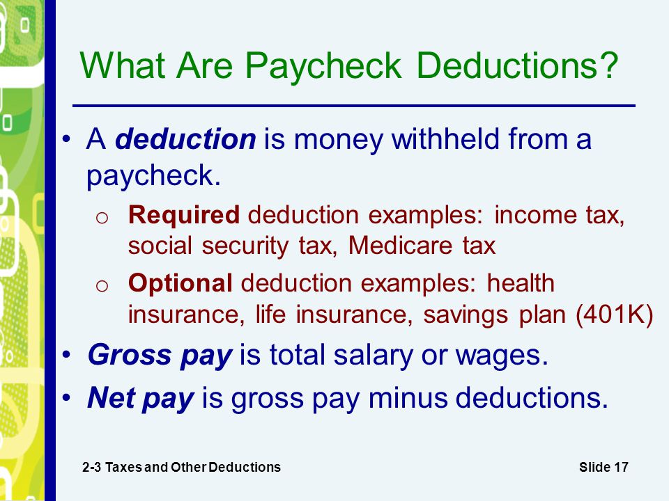 What Are Paycheck Deductions