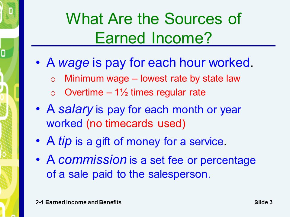 What Are the Sources of Earned Income