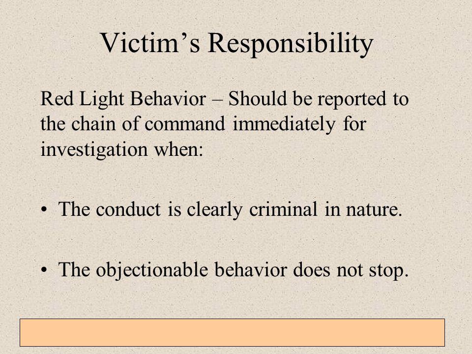 Victim's Responsibility