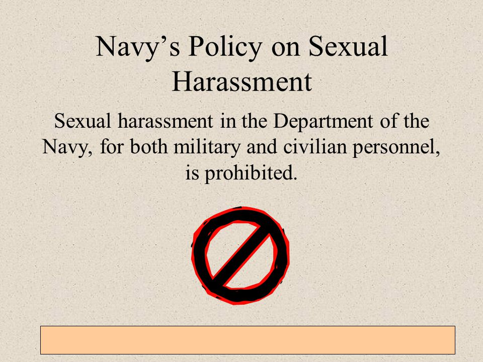 Navy's Policy on Sexual Harassment