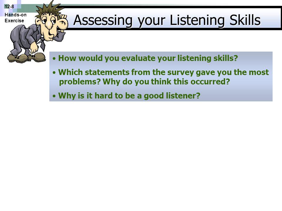 Assessing your Listening Skills