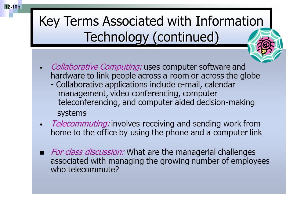 Key Terms Associated with Information Technology (continued)
