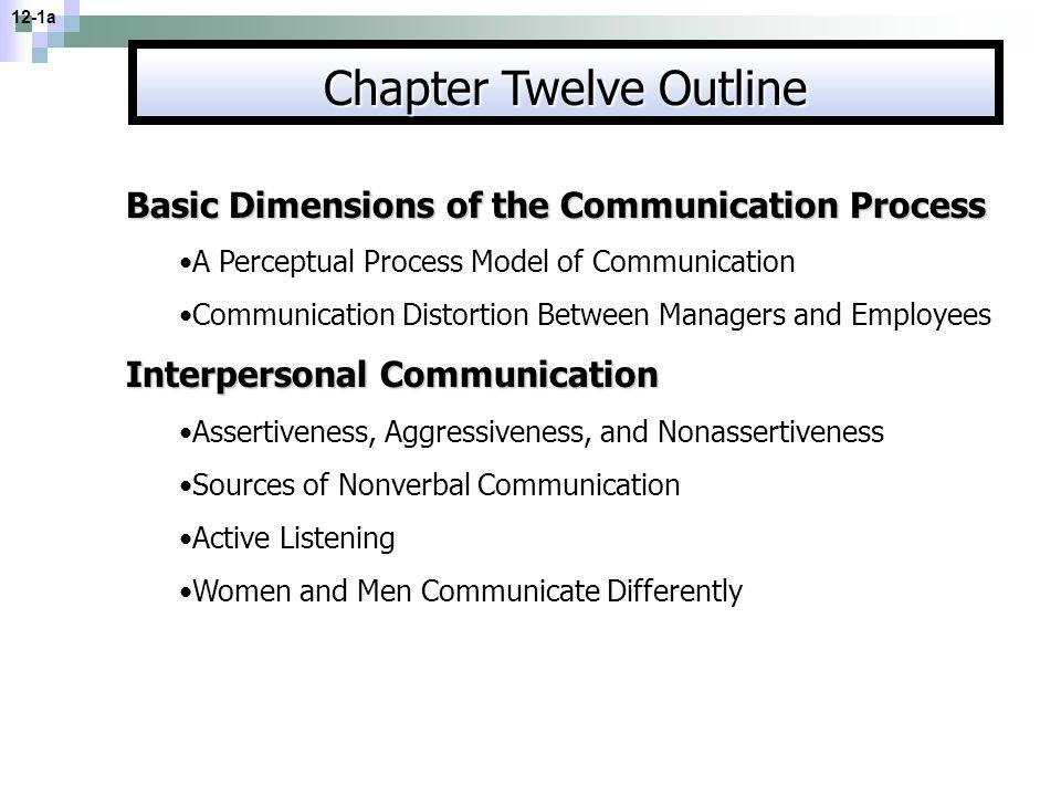 Chapter Twelve Outline