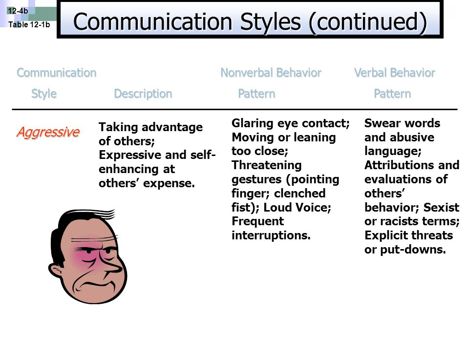 Communication Styles (continued)