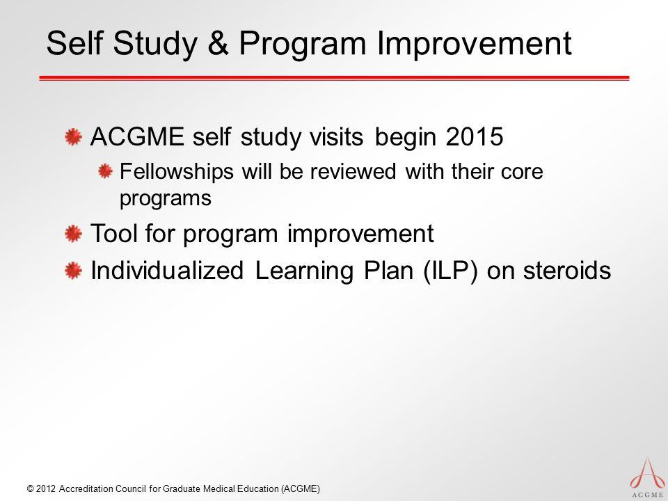 Self Study & Program Improvement