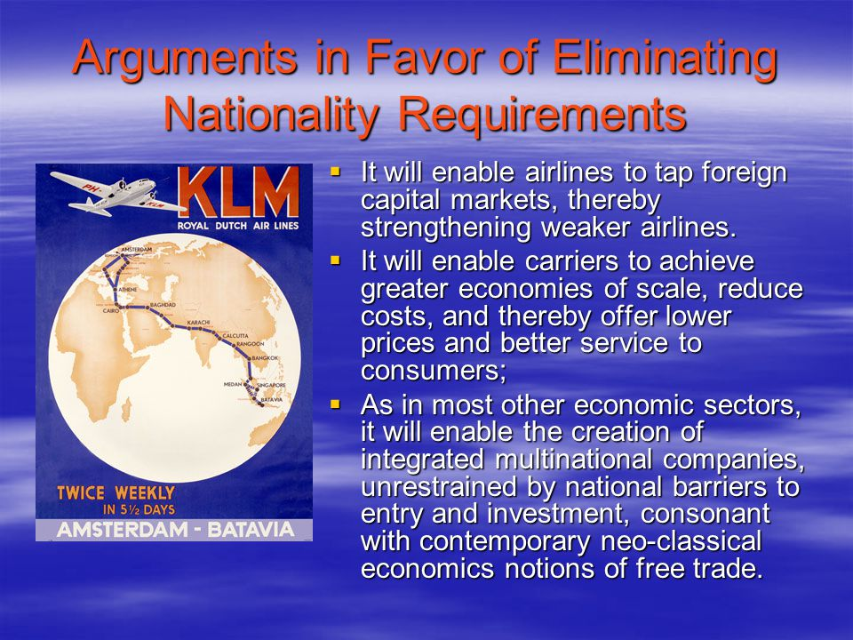Arguments in Favor of Eliminating Nationality Requirements