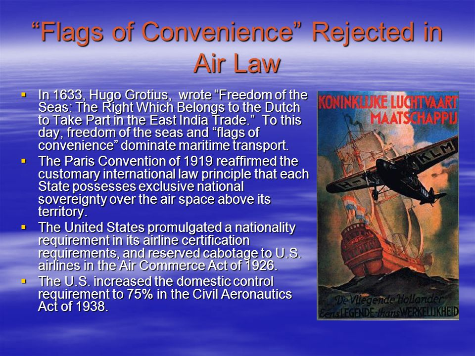 Flags of Convenience Rejected in Air Law