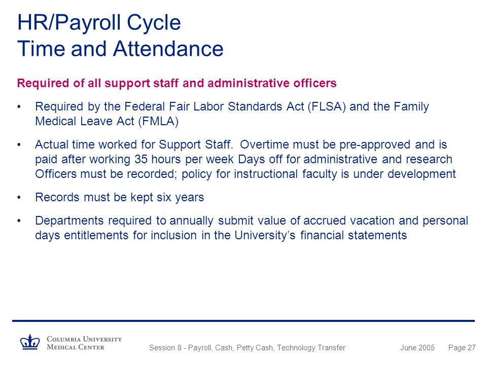HR/Payroll Cycle Time and Attendance
