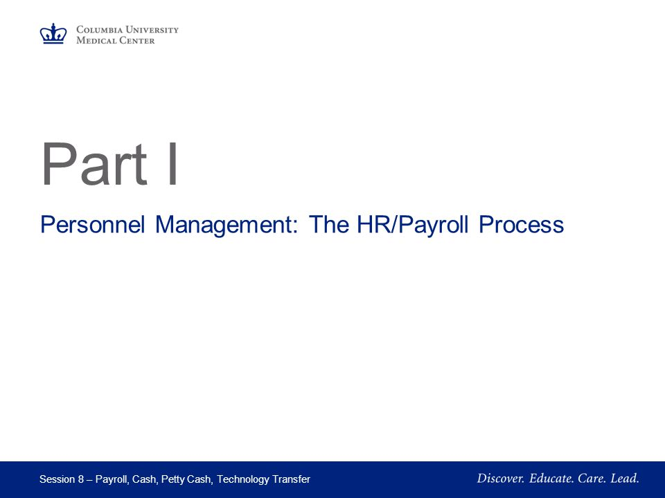 Personnel Management: The HR/Payroll Process