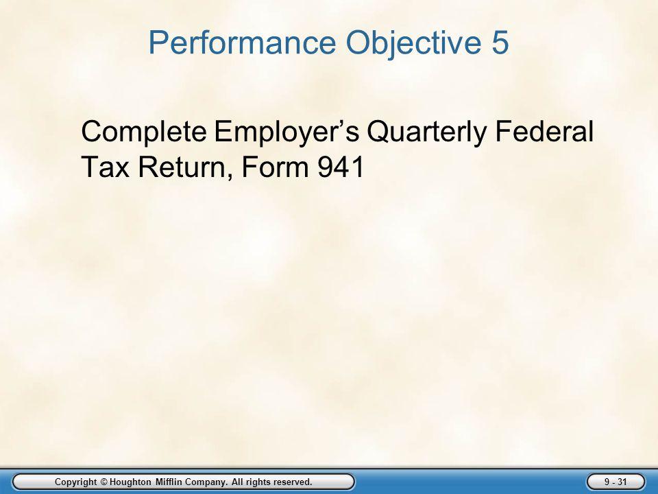 Performance Objective 5