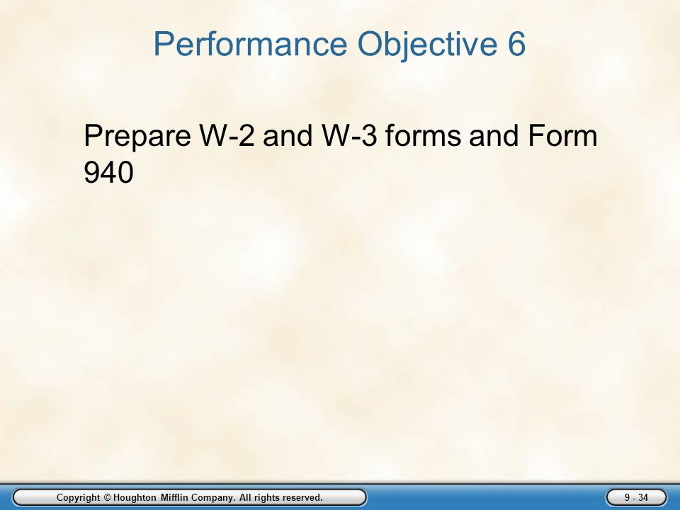Performance Objective 6