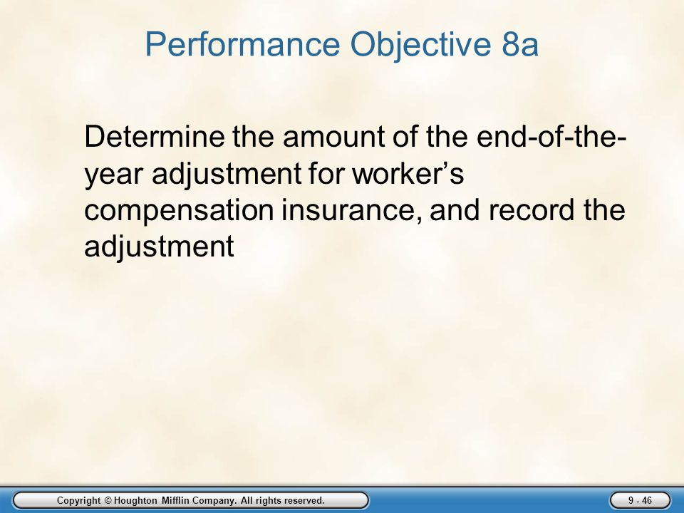 Performance Objective 8a