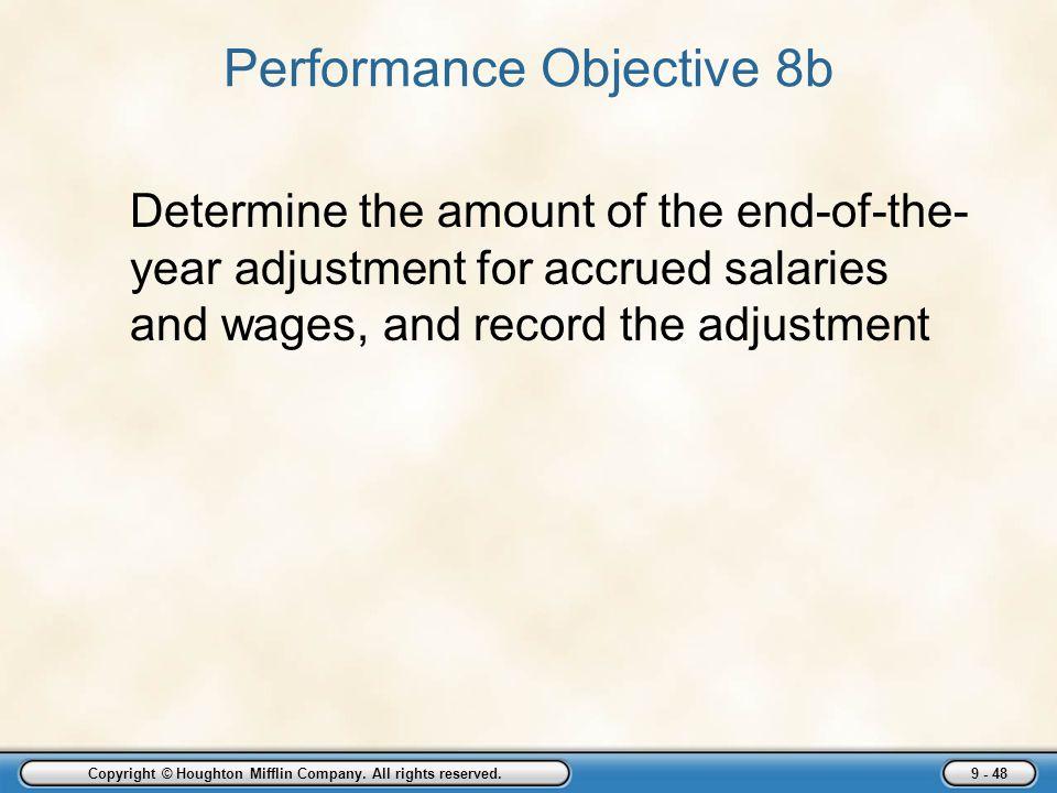 Performance Objective 8b