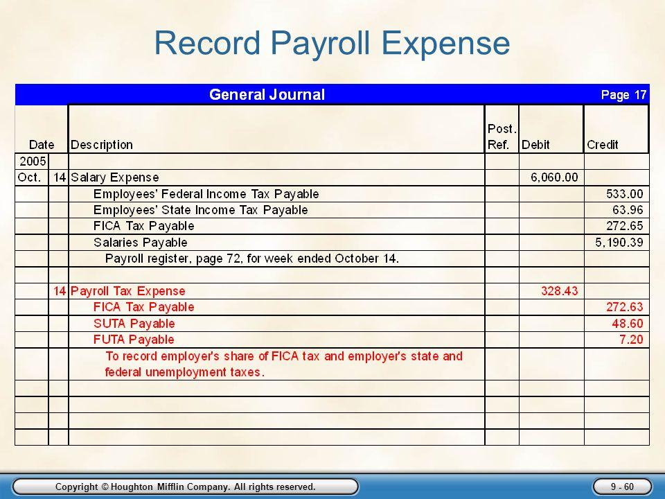 Record Payroll Expense