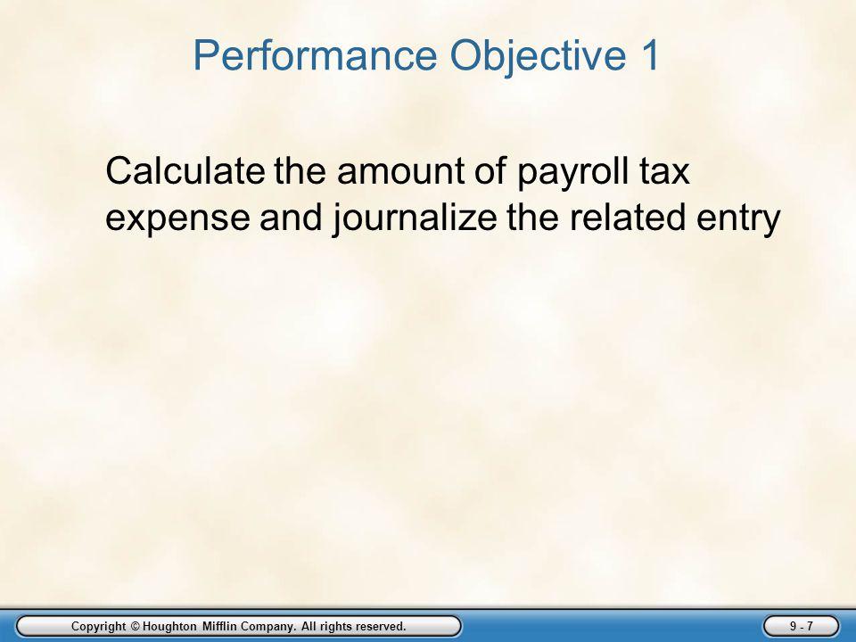 Performance Objective 1
