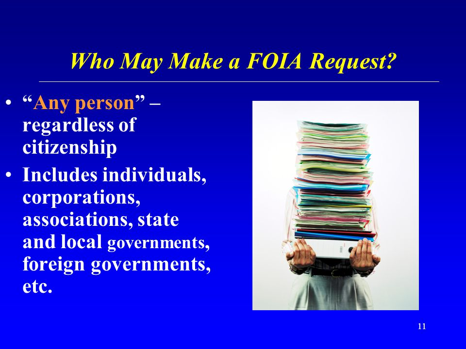 Who May Make a FOIA Request