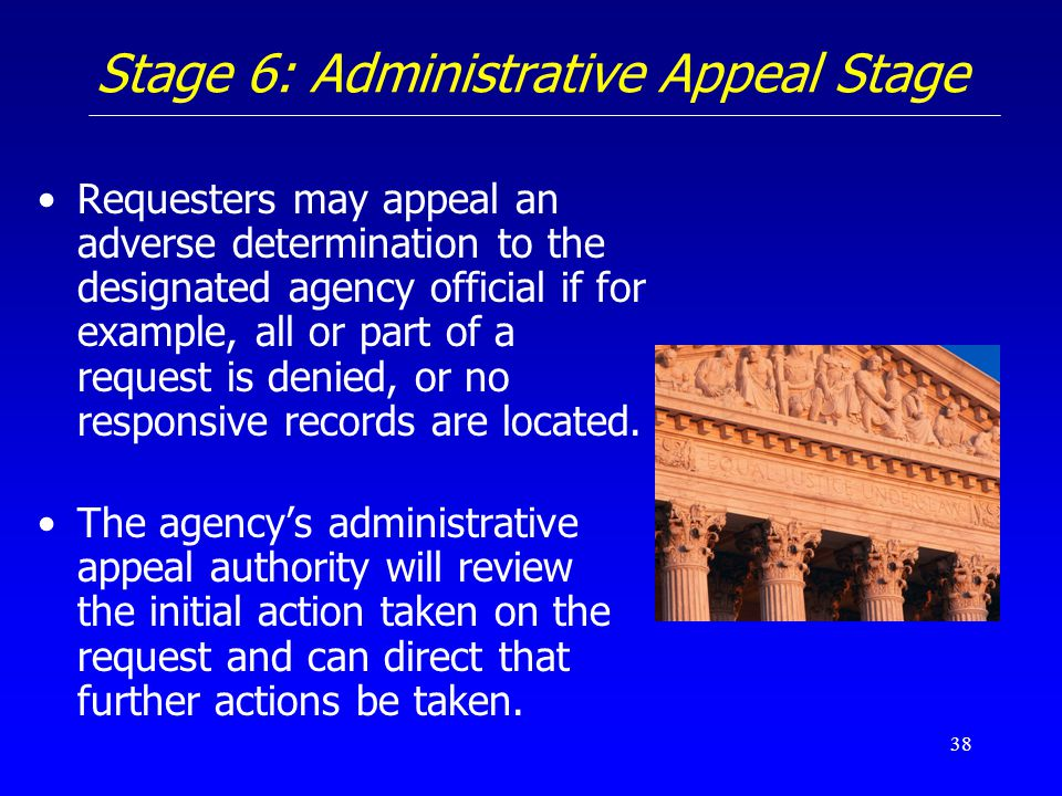 Stage 6: Administrative Appeal Stage