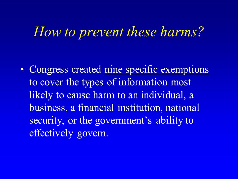 How to prevent these harms