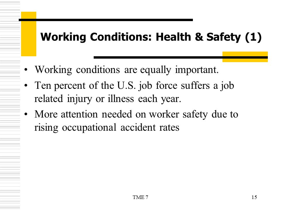 Working Conditions: Health & Safety (1)