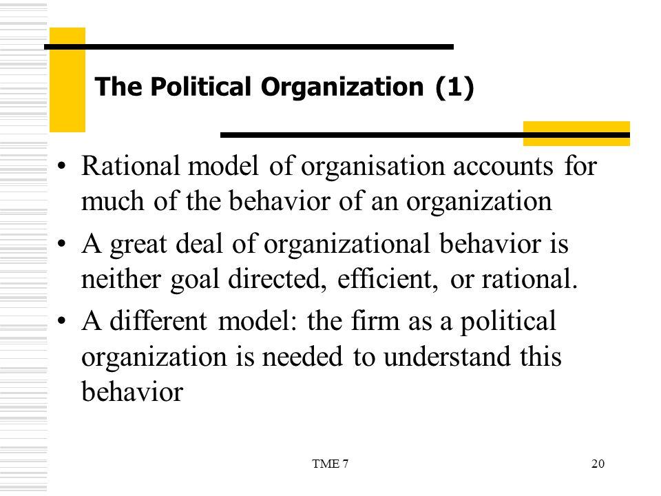 The Political Organization (1)