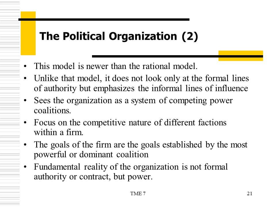 The Political Organization (2)