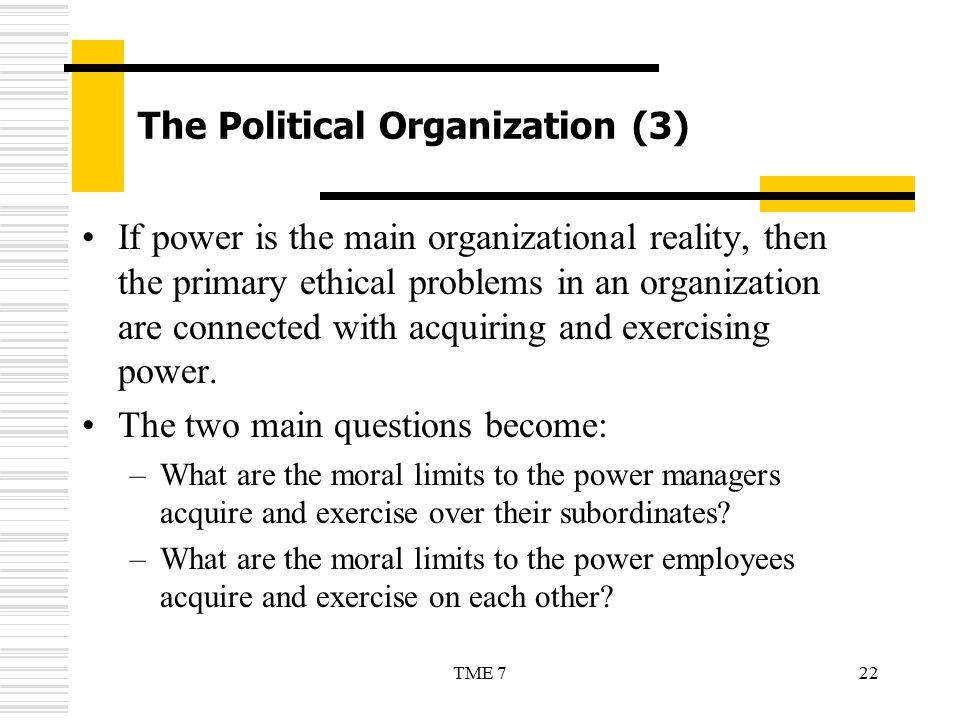 The Political Organization (3)