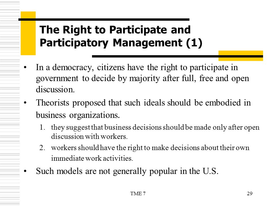 The Right to Participate and Participatory Management (1)