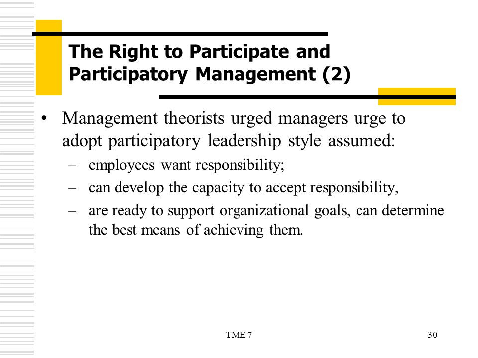 The Right to Participate and Participatory Management (2)