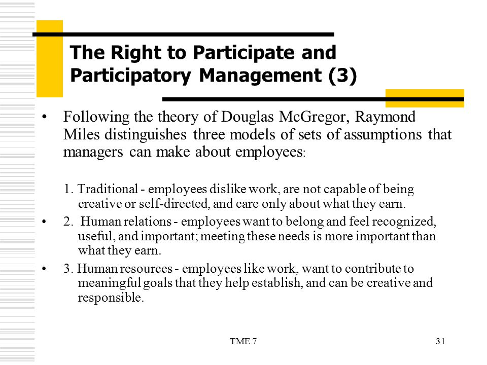 The Right to Participate and Participatory Management (3)