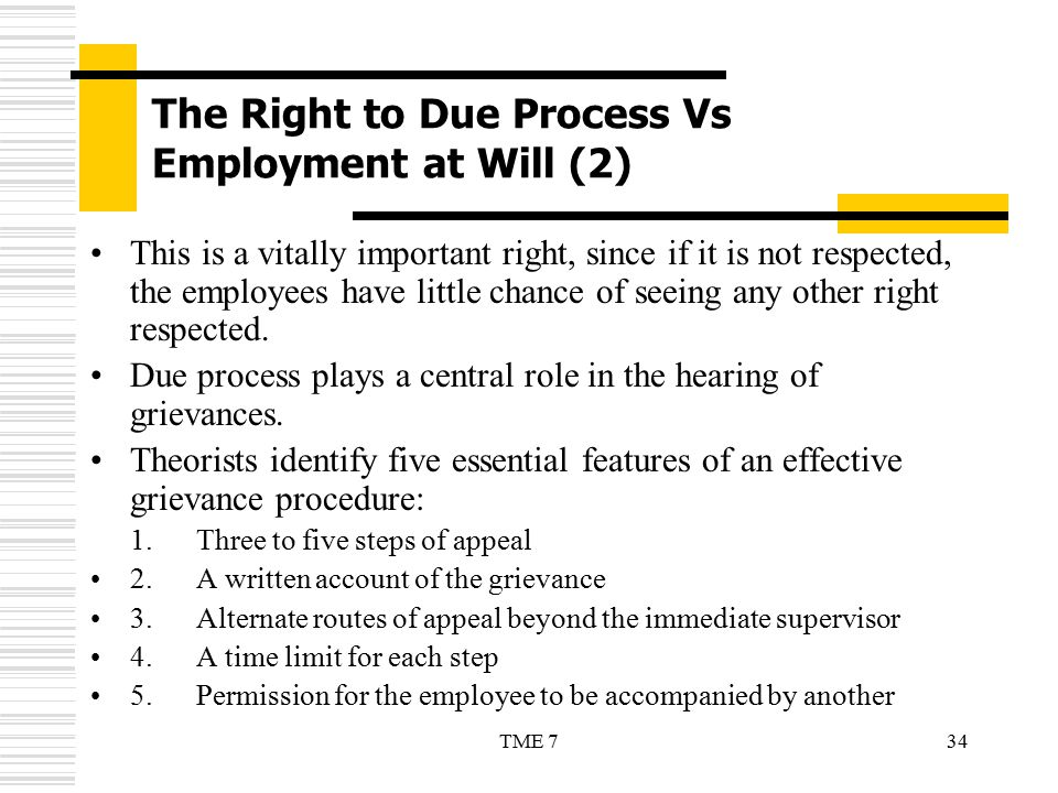 The Right to Due Process Vs Employment at Will (2)