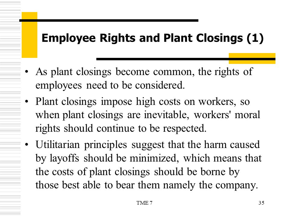 Employee Rights and Plant Closings (1)