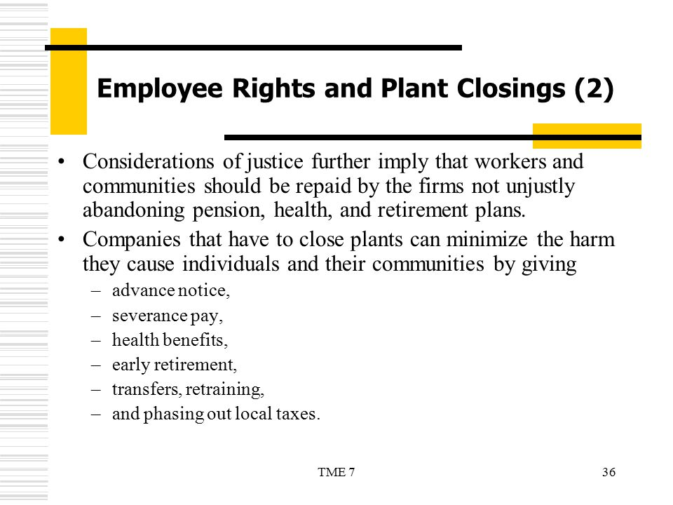 Employee Rights and Plant Closings (2)