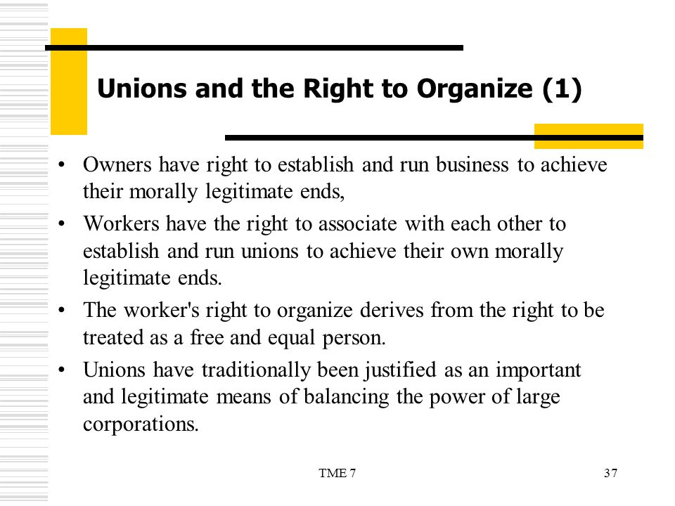 Unions and the Right to Organize (1)