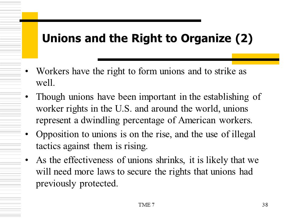 Unions and the Right to Organize (2)