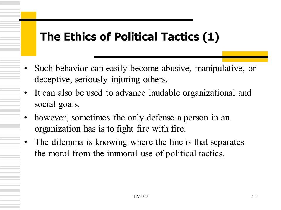 The Ethics of Political Tactics (1)