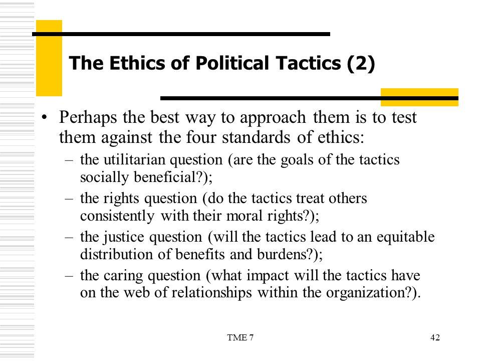 The Ethics of Political Tactics (2)