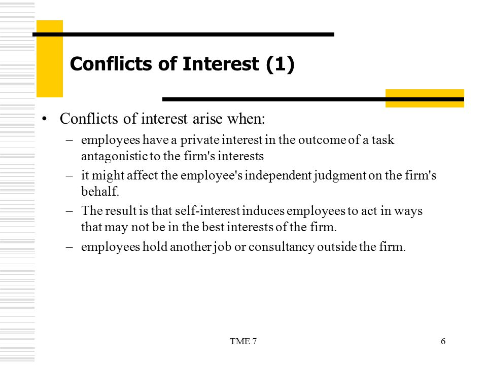 Conflicts of Interest (1)