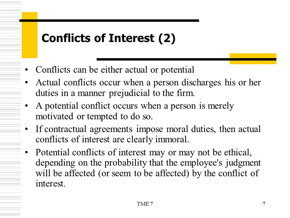 Conflicts of Interest (2)