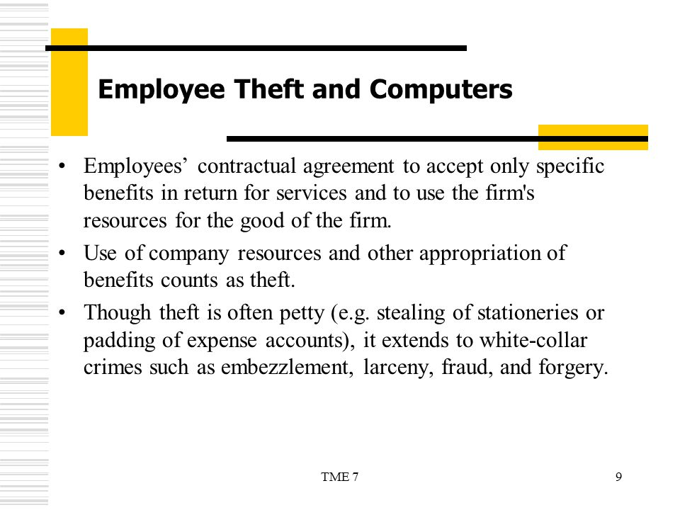 Employee Theft and Computers