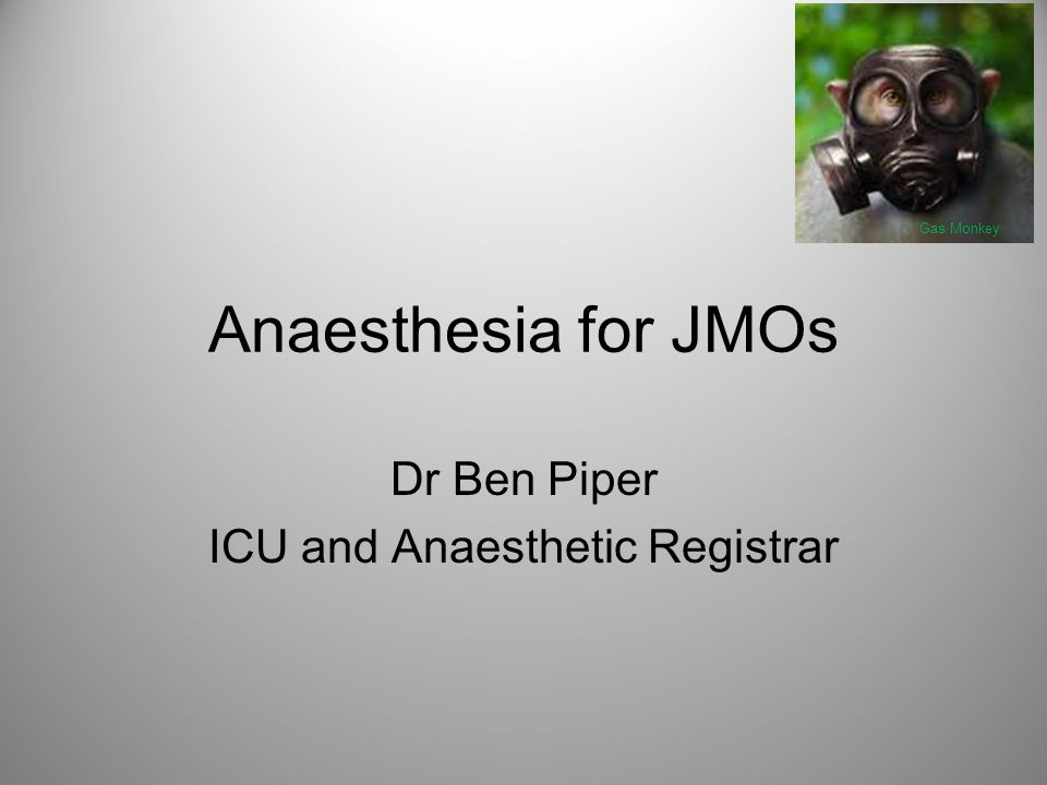 Dr Ben Piper ICU and Anaesthetic Registrar
