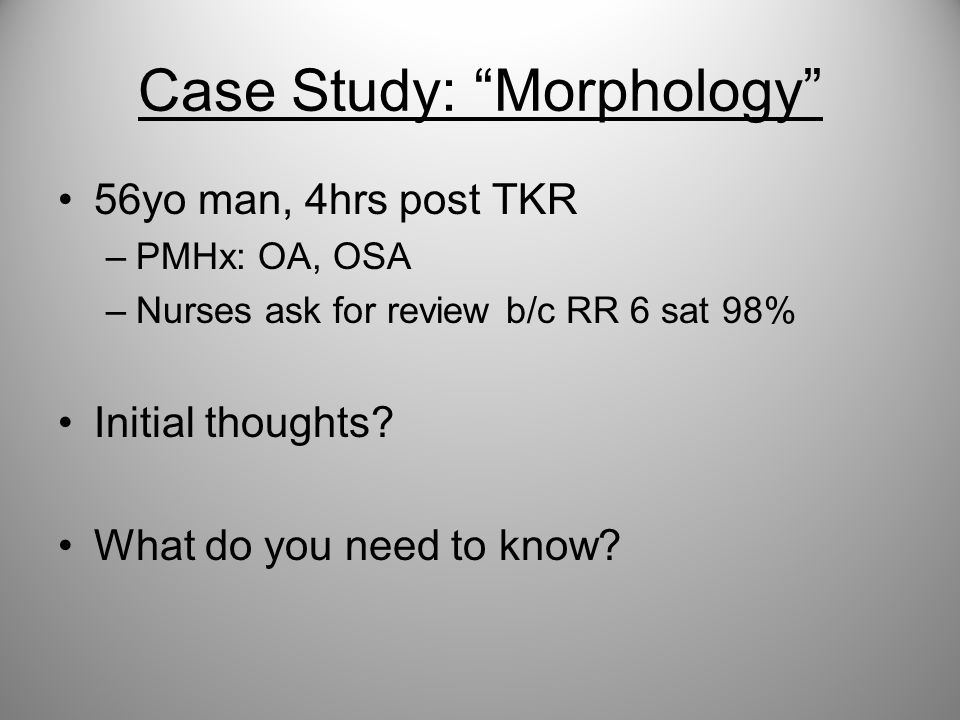 Case Study: Morphology
